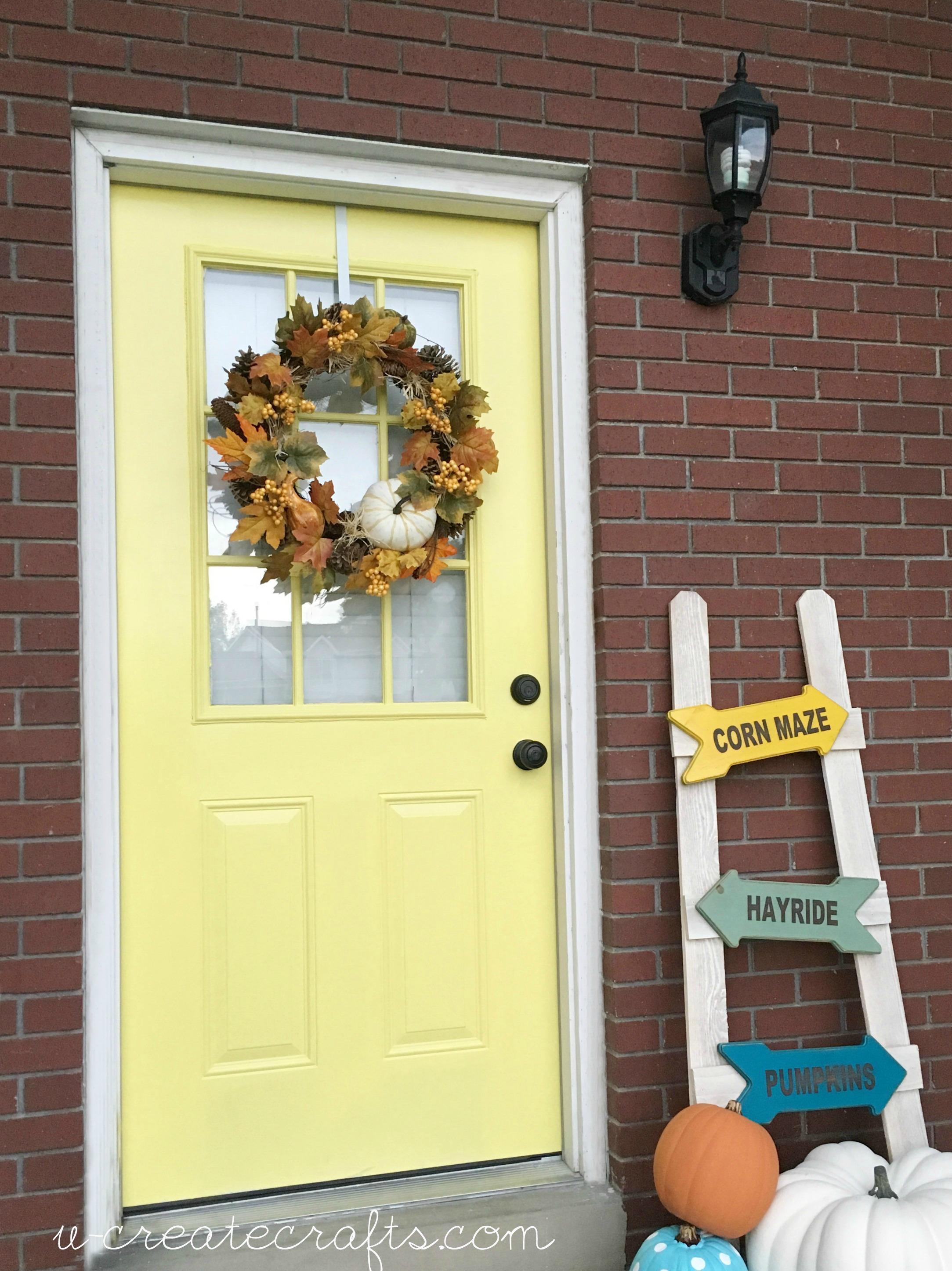 Yellow Front Door Makeover U Create