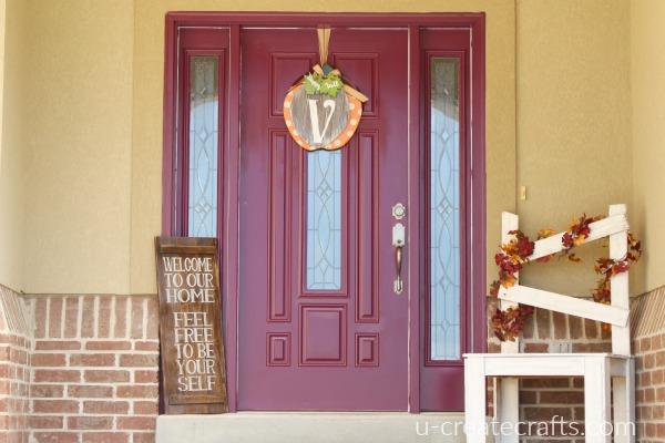 Beck's front door poetic purple