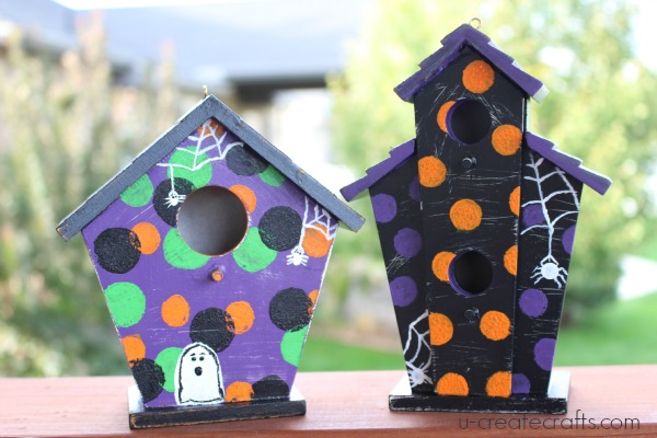 DIY Halloween Decor Birdhouses