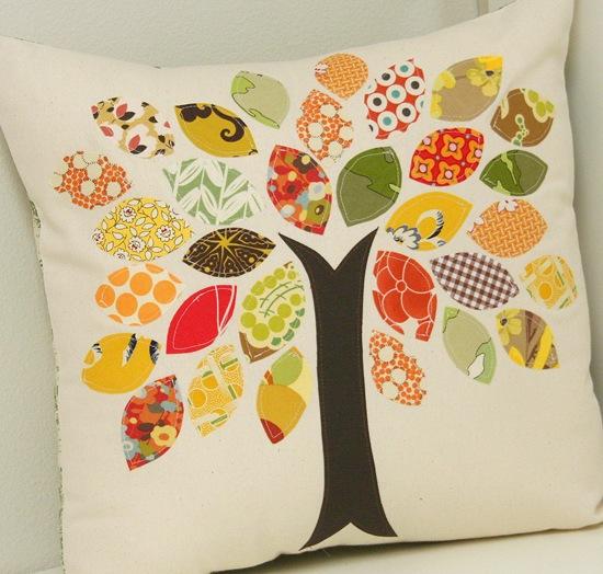 Fall pillow scrap buster