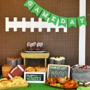 DIY Football Party Backdrop