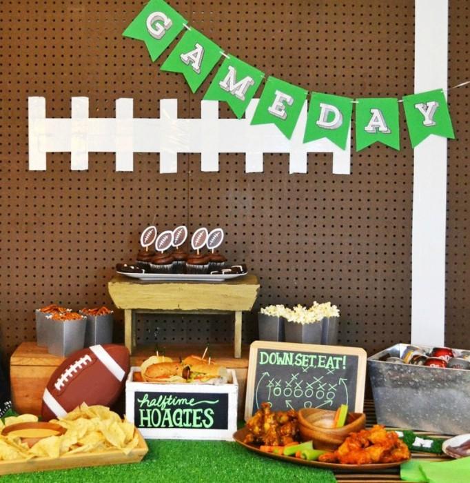 DIY Football Party Backdrop