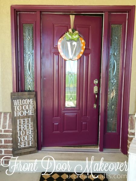 Front Door Makeover at u-createcrafts.com