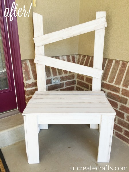Reclaimed wood chair at u-createcrafts.com