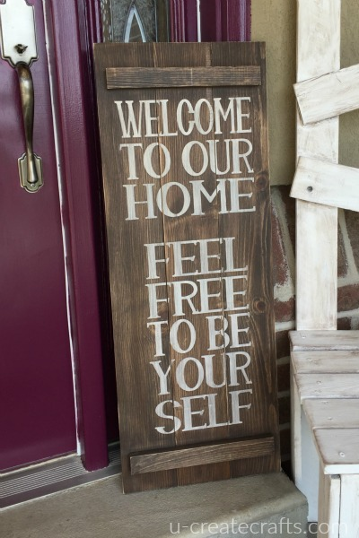 Diy Welcome Sign U Create