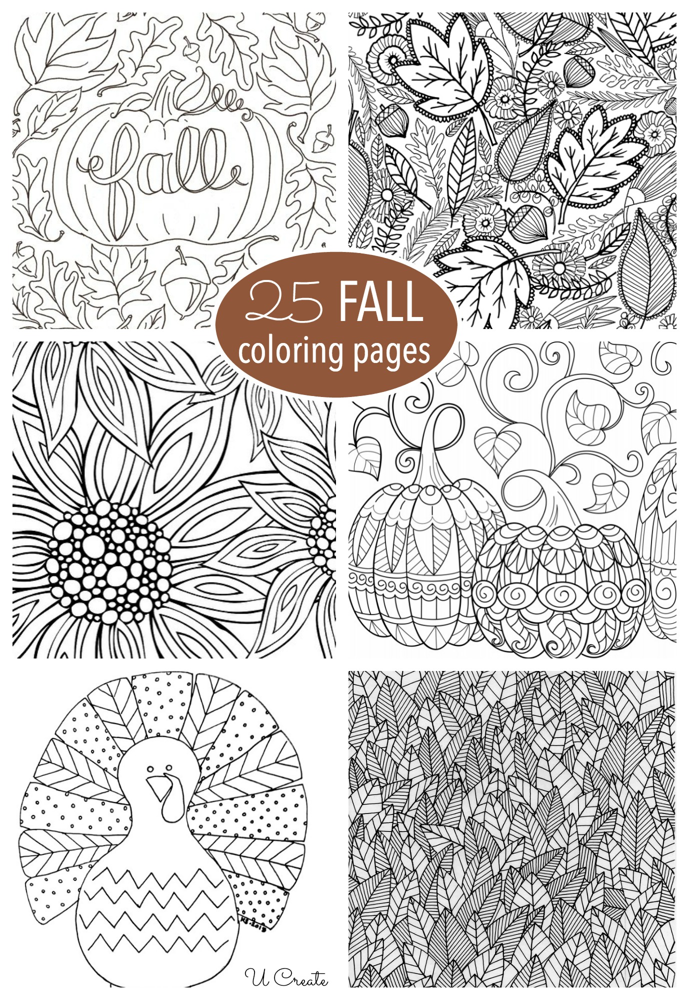 Vibrant image for free printable fall coloring pages