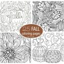 25 Free Fall Coloring Pages