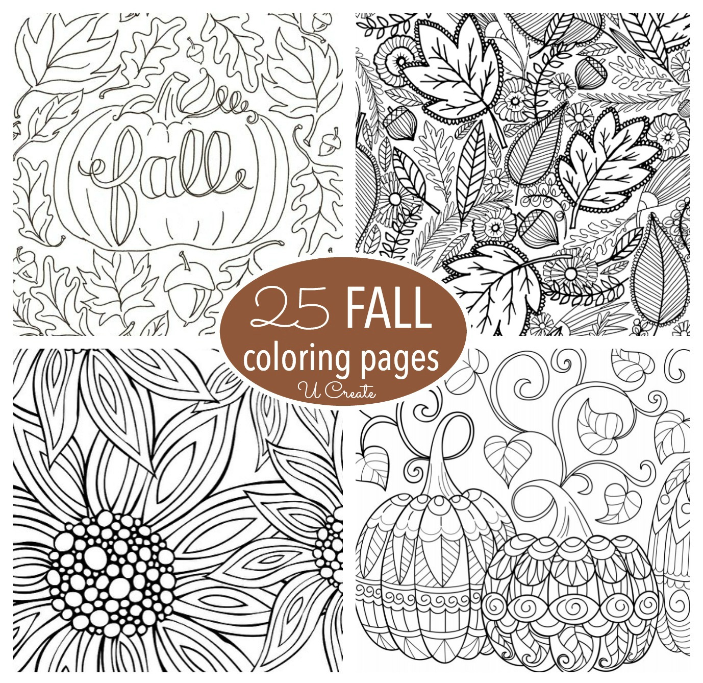adult coloring pages fall Free Fall Adult Coloring Pages   U Create adult coloring pages fall