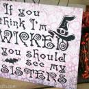 Wicked Sisters Halloween Craft by U Create