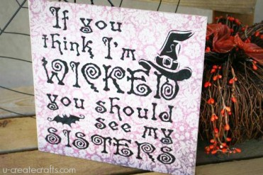 Wicked Sisters Halloween Craft by U Create
