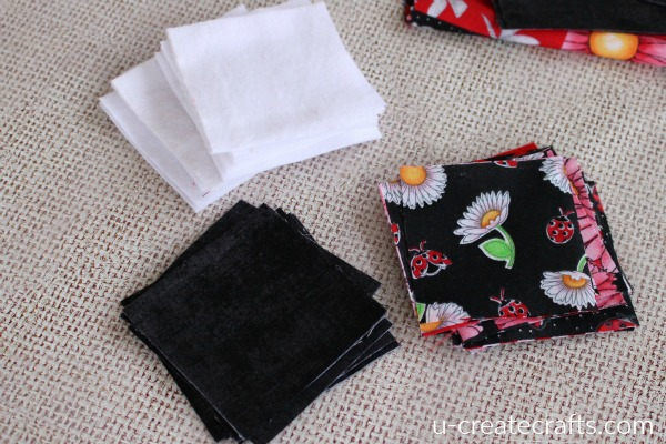 3x3 fabric squares for memory game