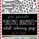 Free Adult Christmas Coloring Page by U Create