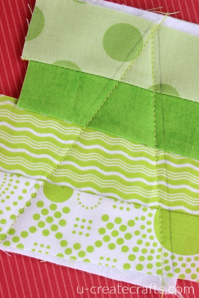 Sewing along the tree lines