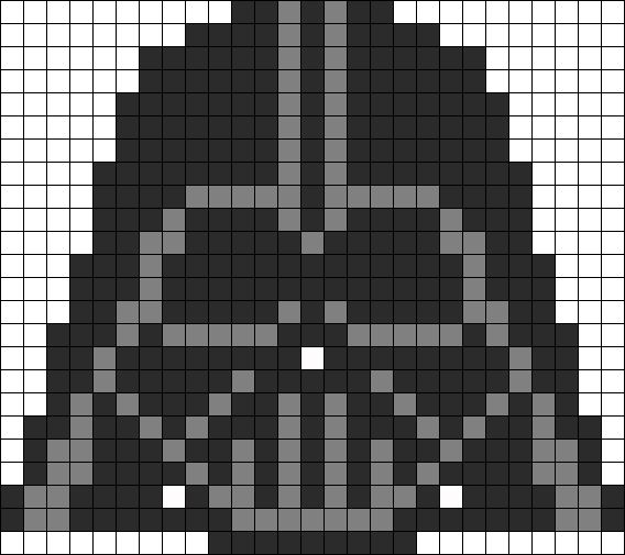 Darth Vader Perler Bead Pattern by Kandi Patterns
