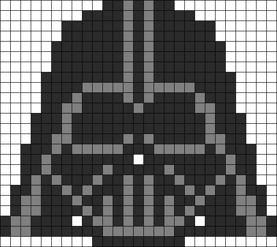Darth Vader Perler Bead Pattern by Kandi Patterns