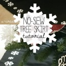 """No-Sew"" Tree Skirt Tutorial by U Create"