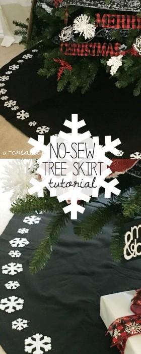 """No-Sew"" Tree Skirt Tutorial by U Create"