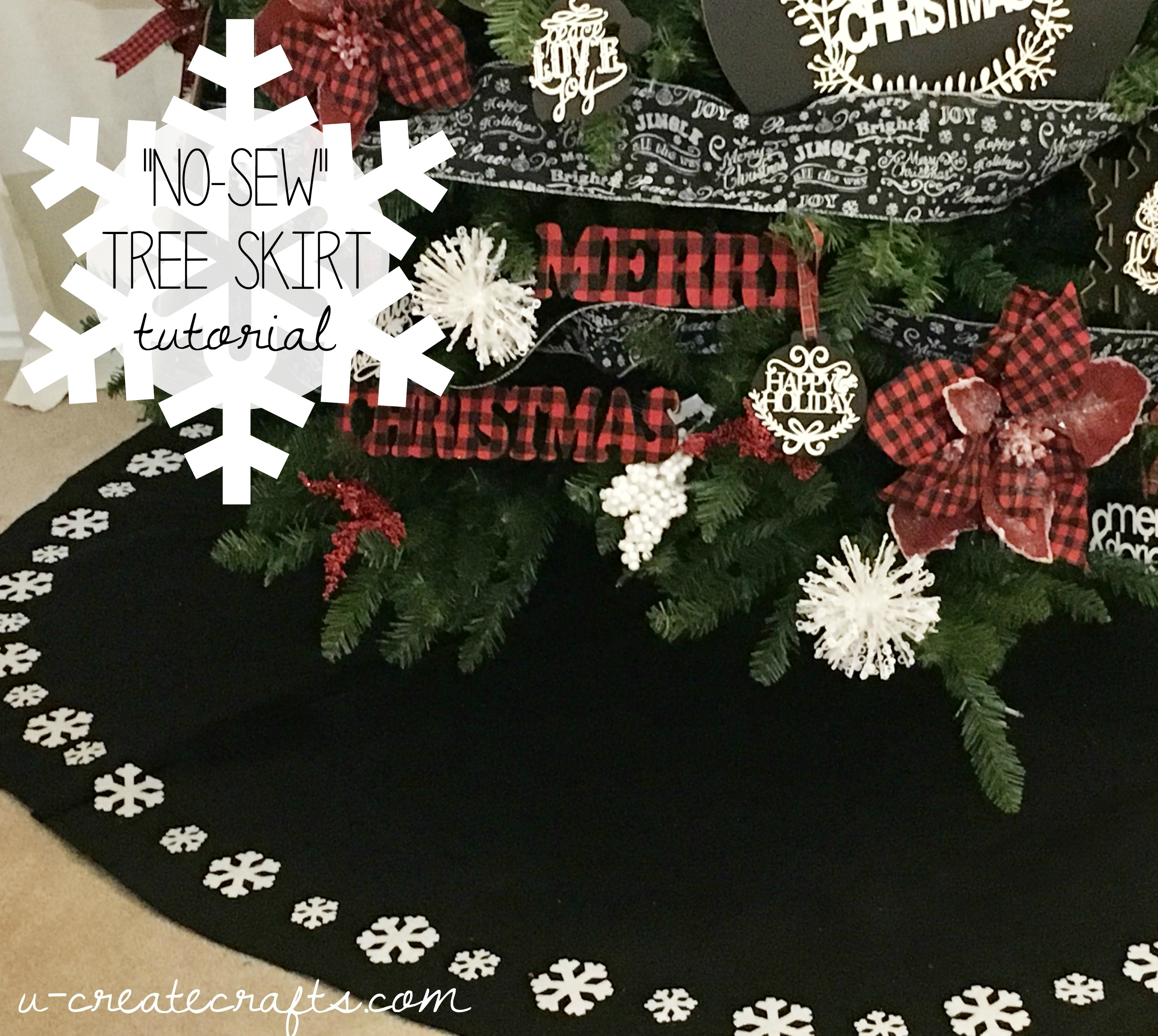 No Sew Tree Skirt Tutorial - U Create