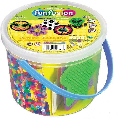 Bucket of Perler Beads