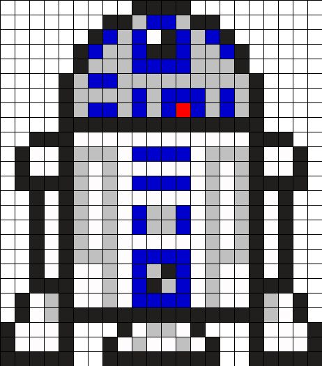 Star Wars R2D2 Perler Bead Pattern