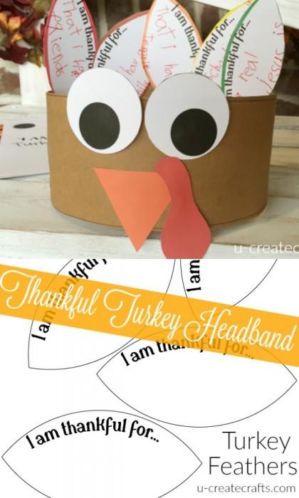 Free Printable Turkey Headbands by U Create