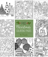 Free Christmas Adult Coloring Pages