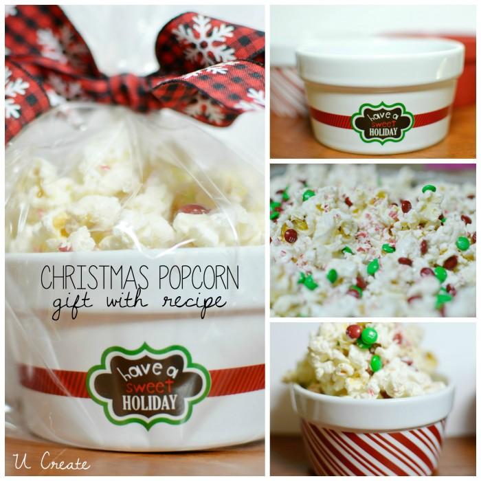 Christmas Popcorn Recipe and gift idea by U Create