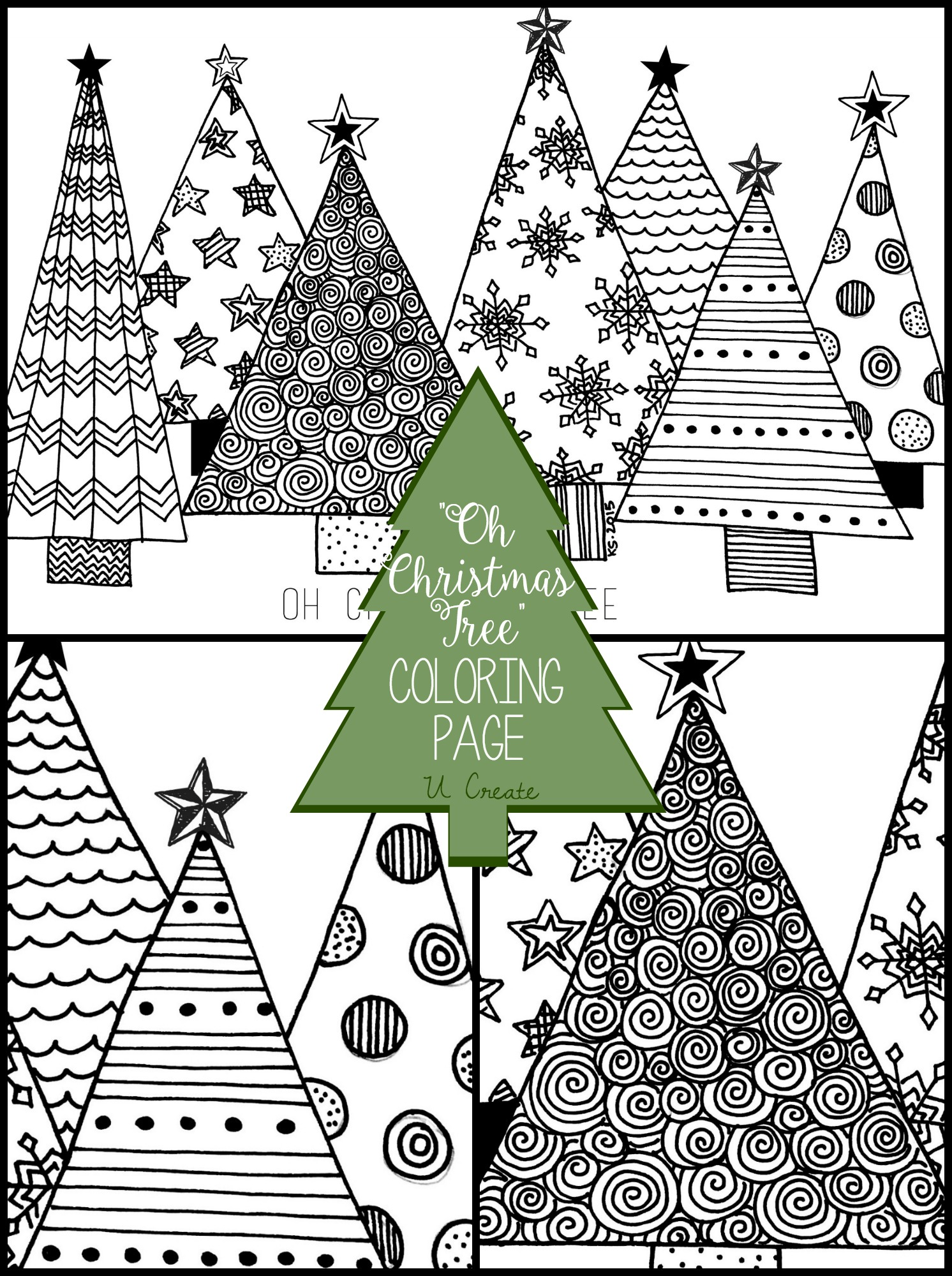 oh christmas tree coloring page u create