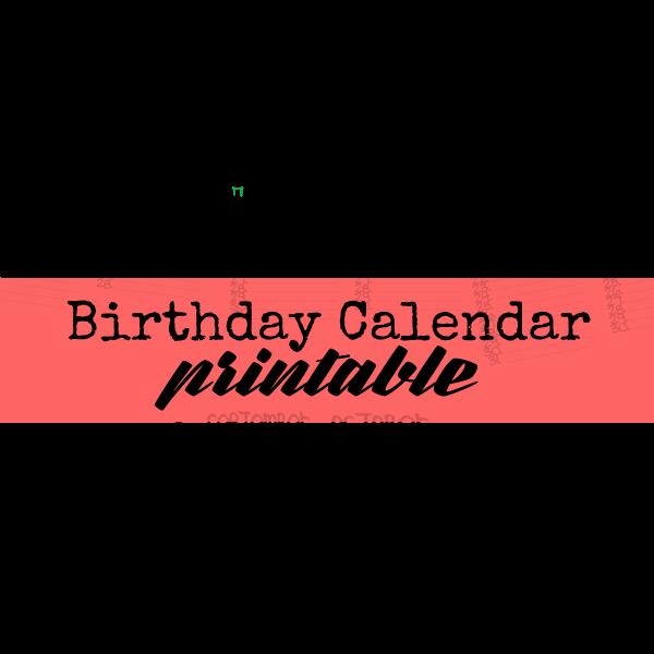 Birthday Calendar Free Militaryalicious