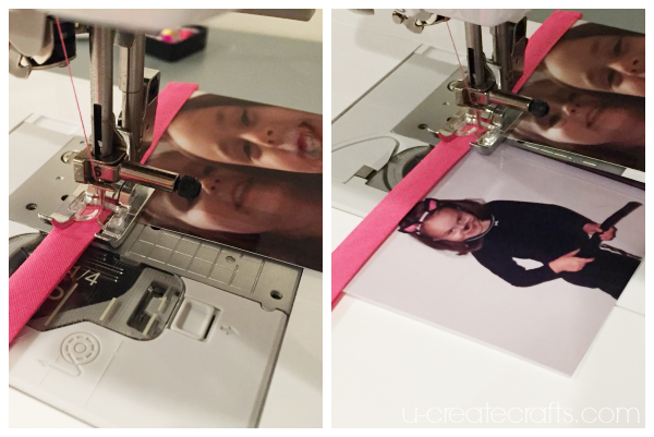 Sewing a birthday banner