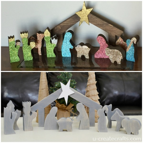 Wooden Nativity Set 2 Different Looks U Create