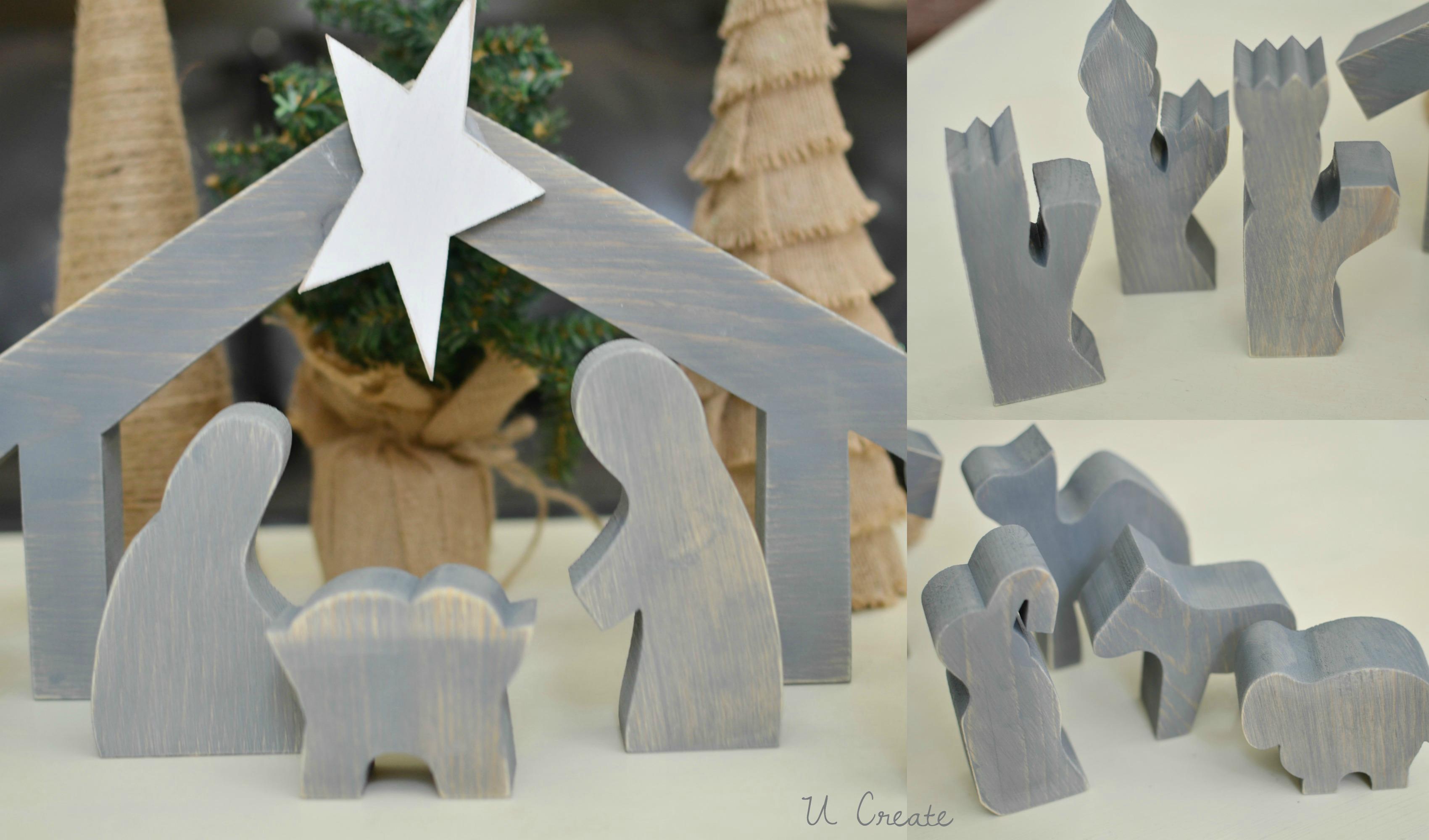 wooden navity set by u create - Wooden Nativity Set