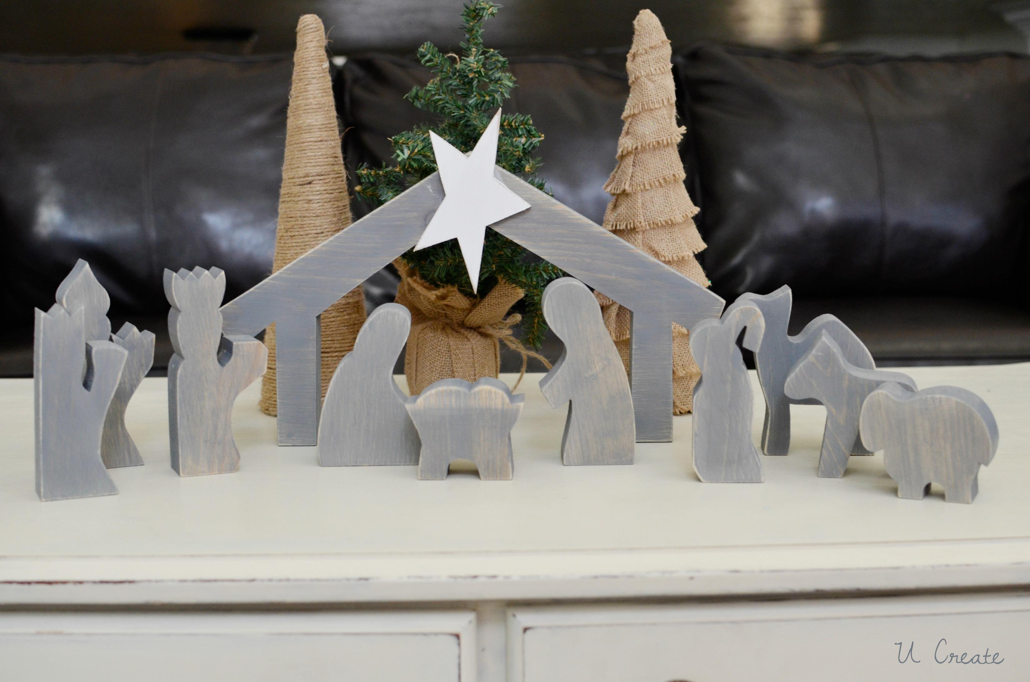 wooden nativity tutorial at u create - Wooden Nativity Set