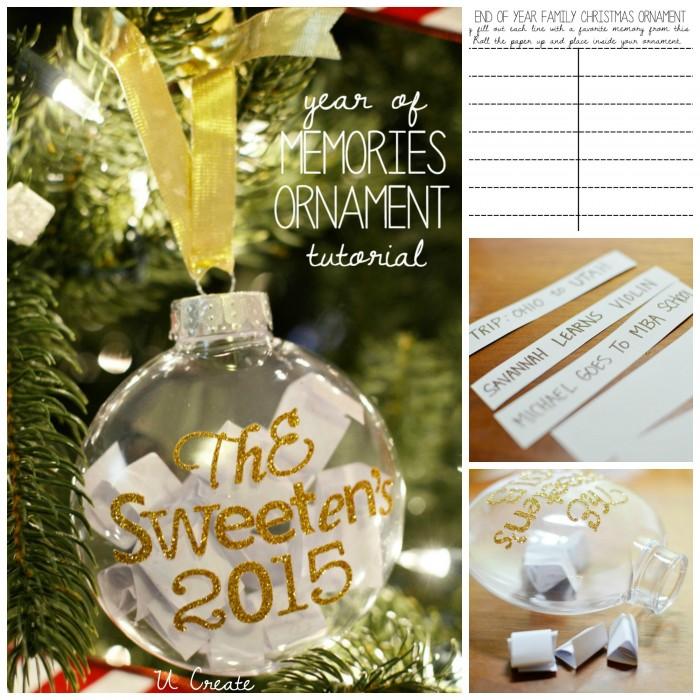 Year of Memories Ornament Tutorial with free printable list! u-createcrafts.com