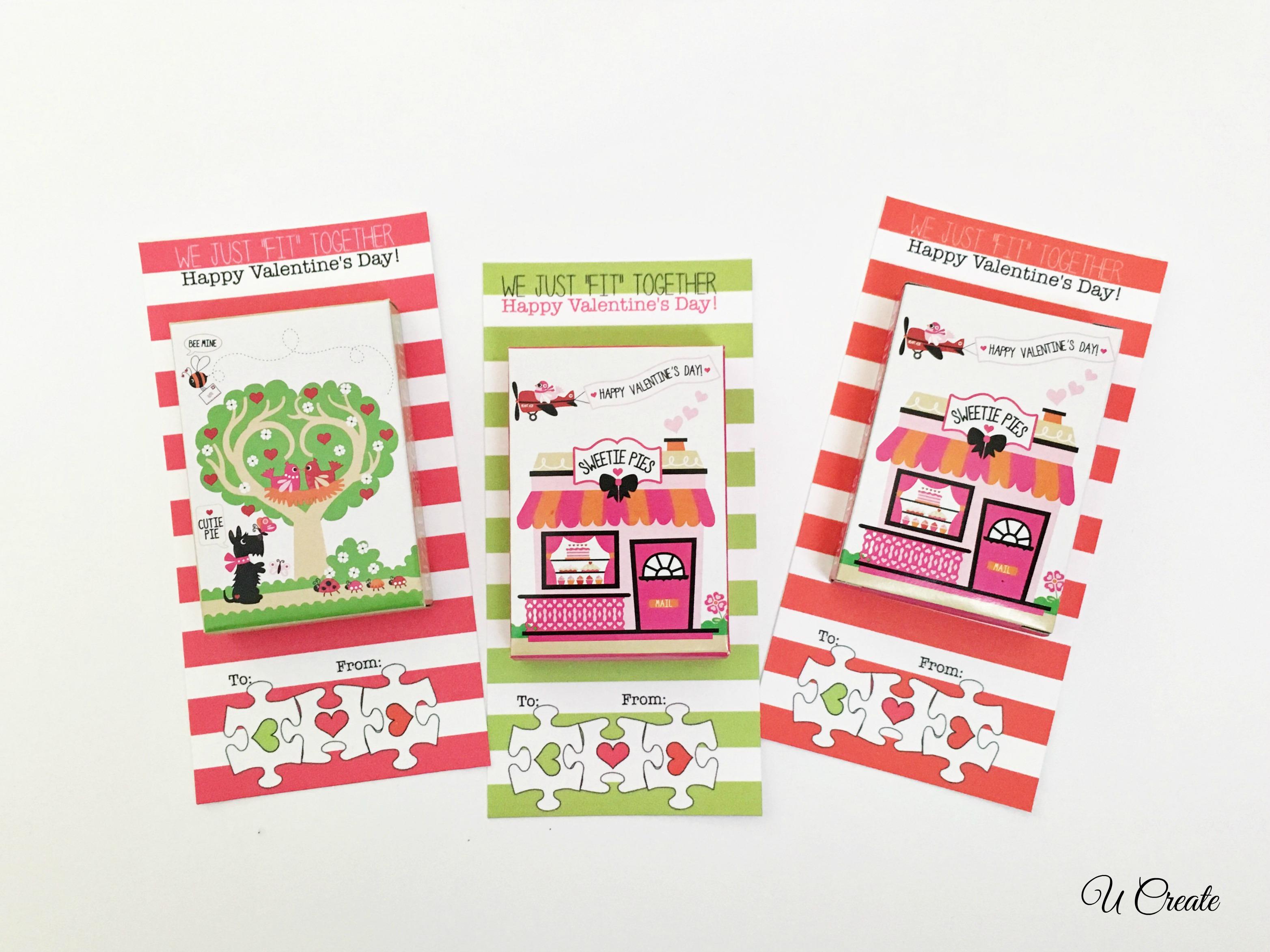 DIY Puzzle Valentines by U Create