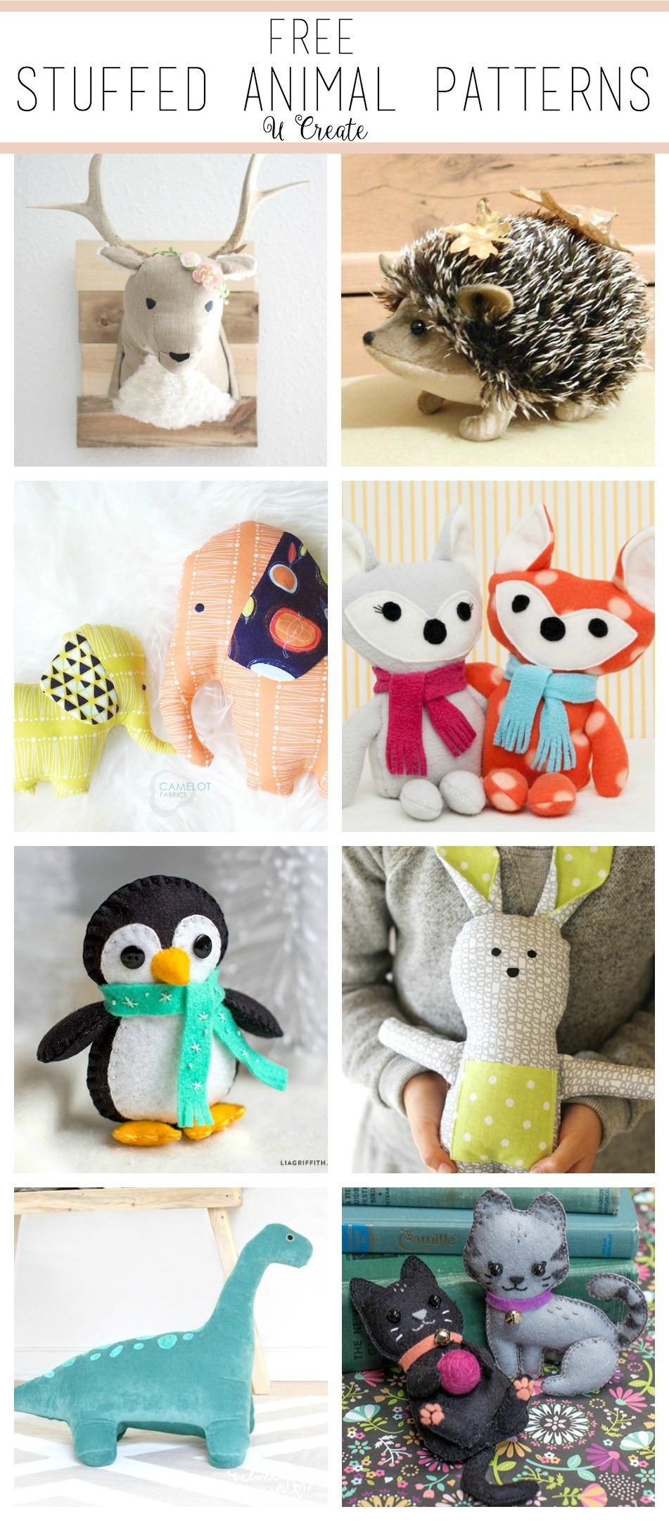 The CUTEST Stuffed Animal Patterns - free!