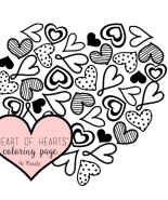 Heart of Hearts Coloring Page or Printable!