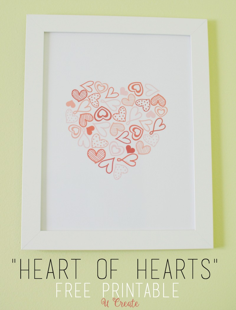 Free Valentine Printable by U Create