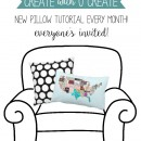 Create with U Create - new pillow tutorial each month - u-createcrafts.com
