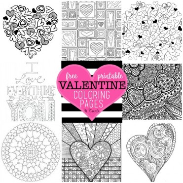 Free Valentine Coloring Pages by U Create