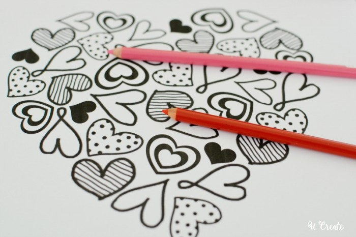 """Heart of Hearts"" Coloring Page Printable by U Create"
