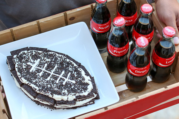 Oreo Football Refridgerator Cake Recipe