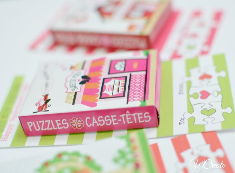 Valentine Puzzle Printables by U Create
