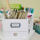 Sketching Station - great way to organize pens, markers, all of it!