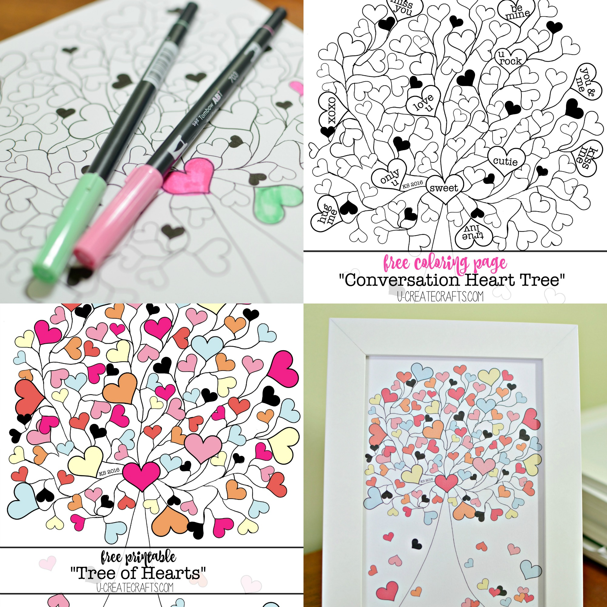Free Valentine Printables by U Create
