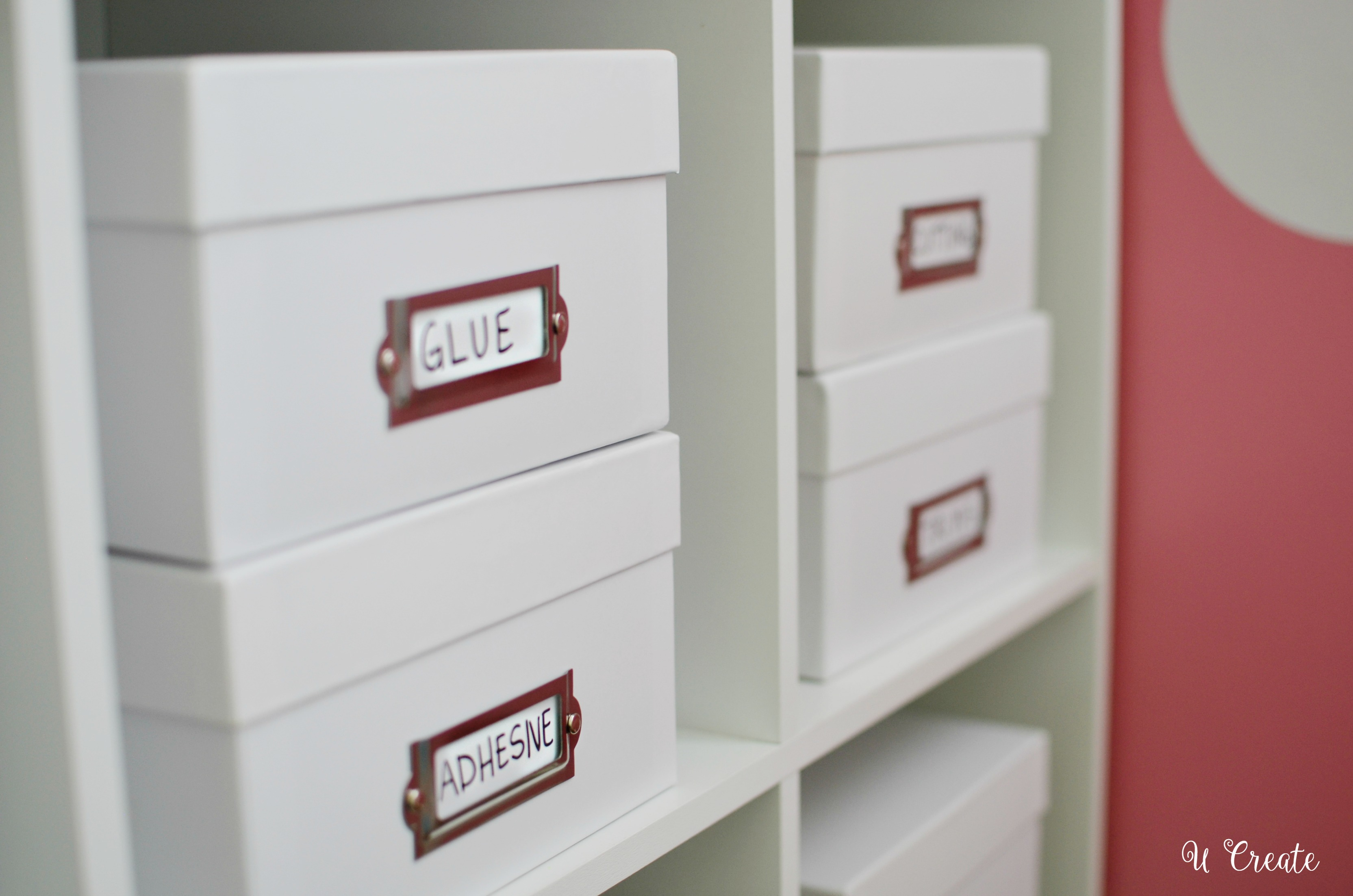 White Storage Boxes and other craft tips by U Create!