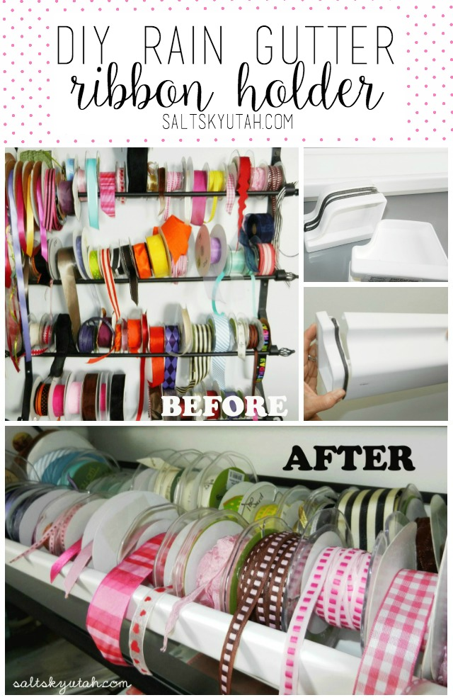 DIY Rain Gutter Ribbon Holder