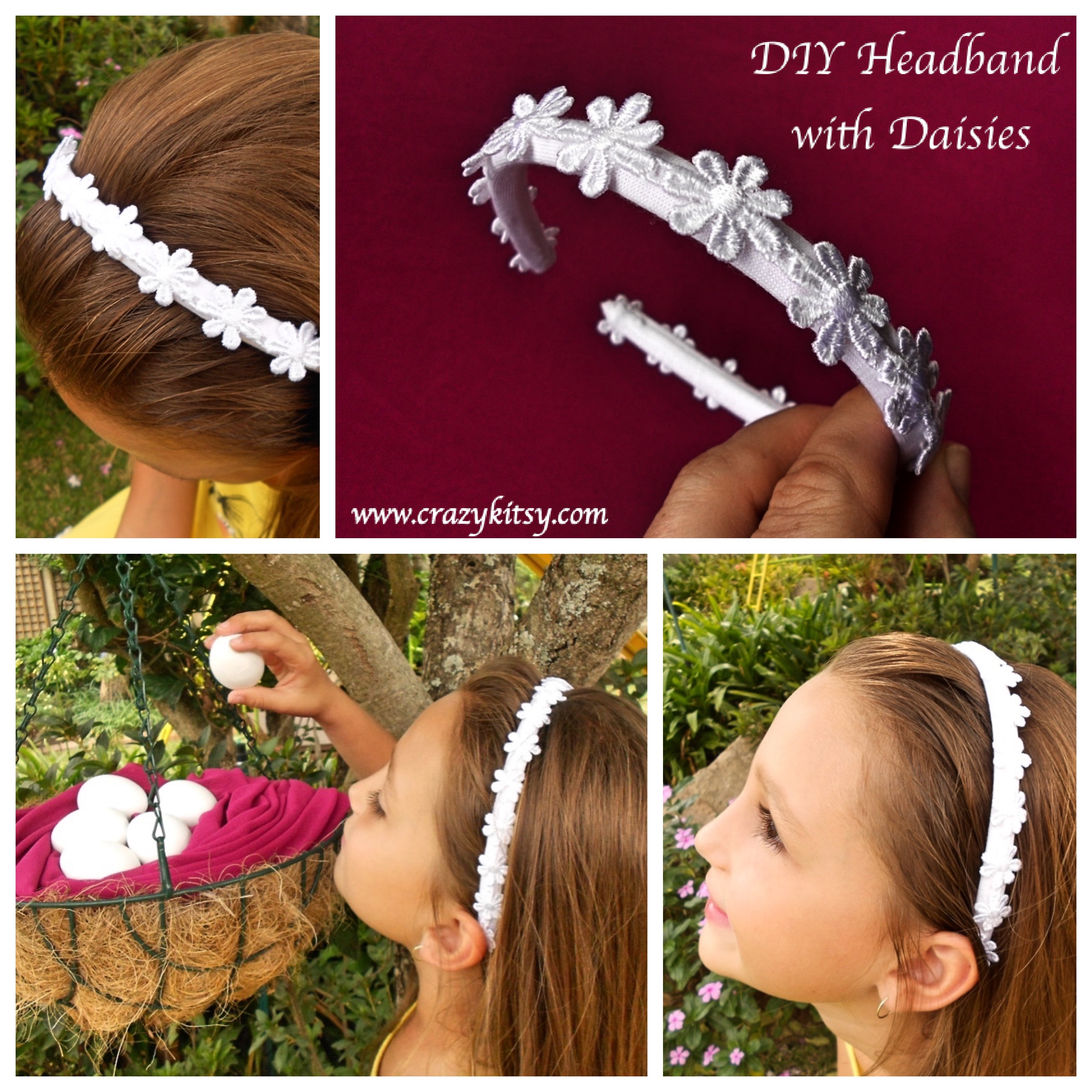 Daisy Headband Tutorial by Crazy Kitsy