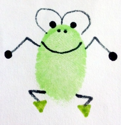 Fingerprint Frog Art