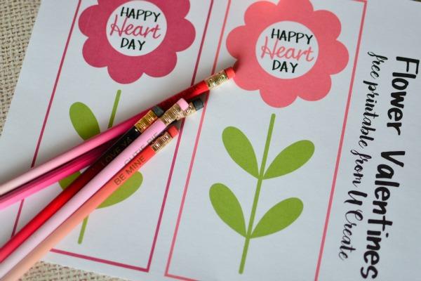 Flower Valentines Printable